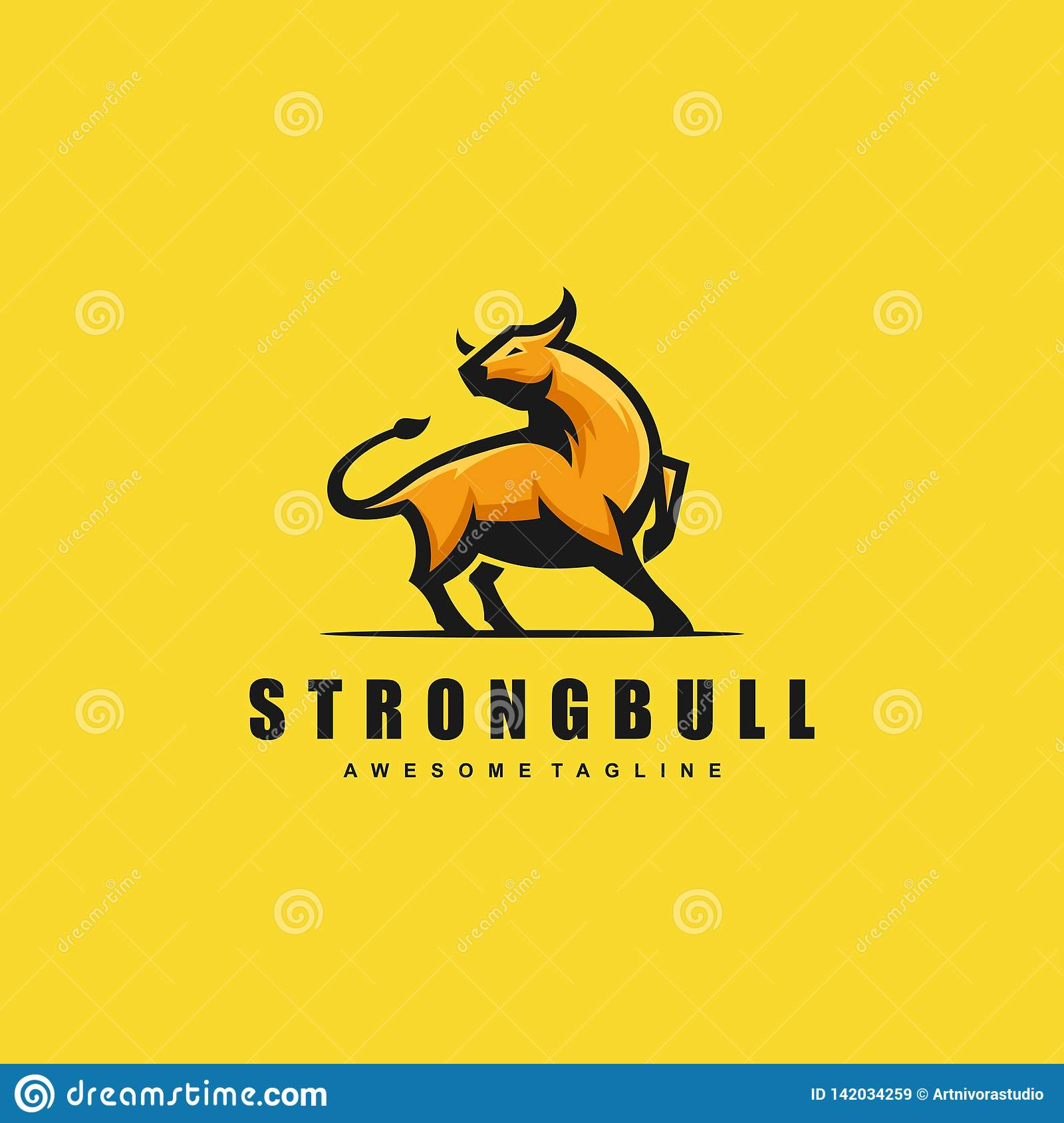 Strong Bull Concept illustration vector template