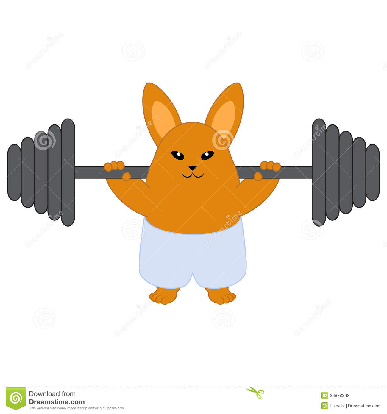 strong bunny stock vector  image of animal  character