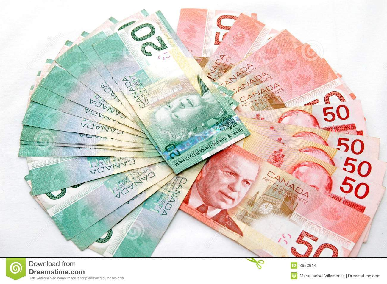 Strong Canadian Dollar 3 Stock Images - Image: 3663614