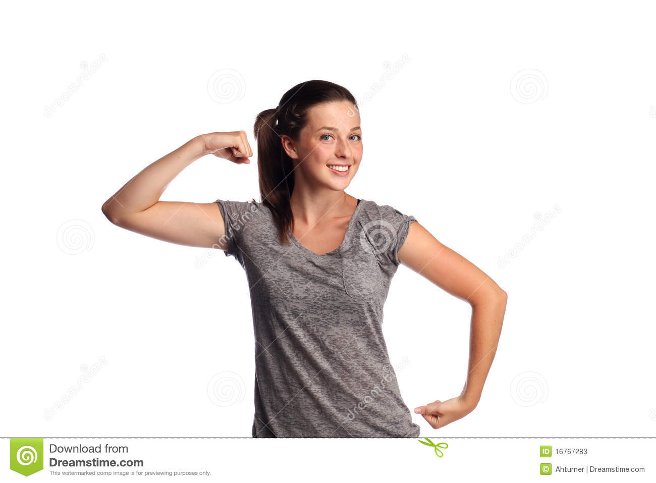 Strong female teenager