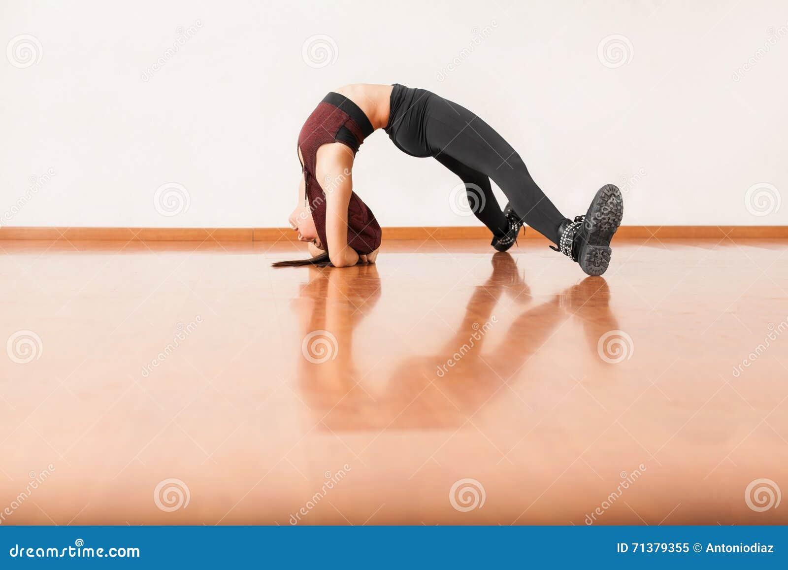 Flexible dancer stock photo. Image of adult, full