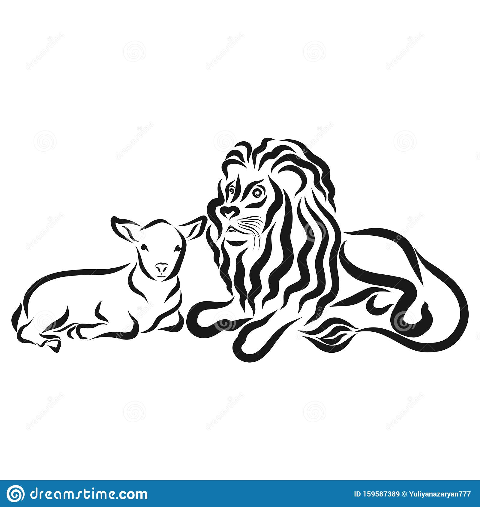 Lion Lamb Stock Illustrations 469 Lion Lamb Stock Illustrations Vectors Clipart Dreamstime I am assuming they are quoting the bible, but i can't find it. https www dreamstime com strong lion young lamb together black outline strong lion young lamb together black outline image159587389