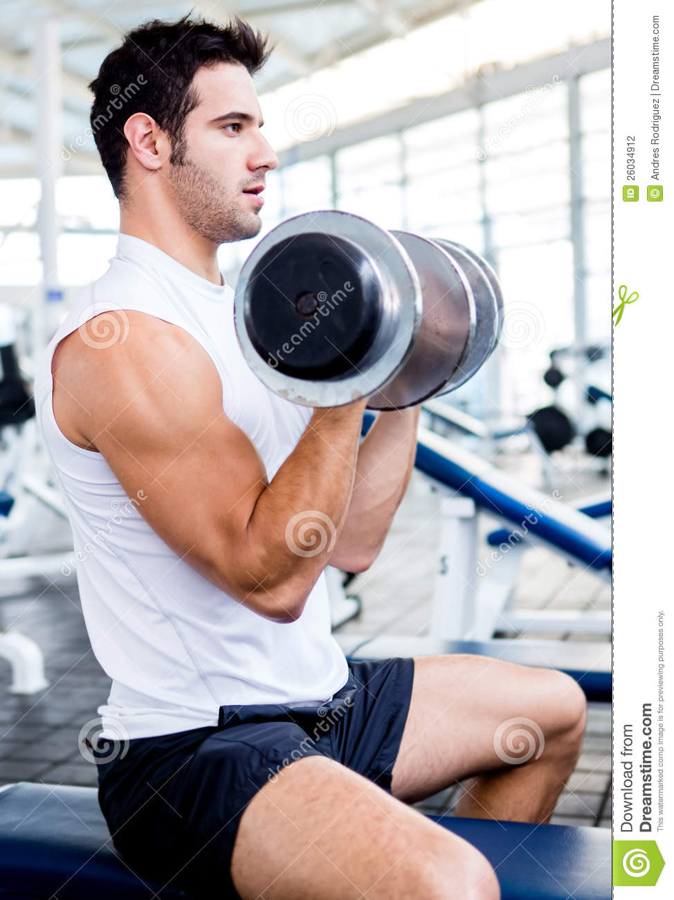 Strong Man At The Gym Stock Photography - Image: 26034912