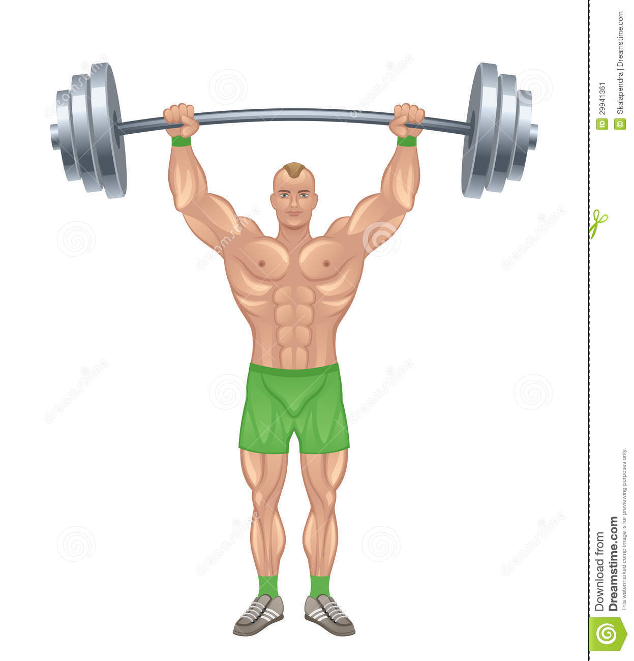 Strong man stock vector. Image of isolated, exercise ...