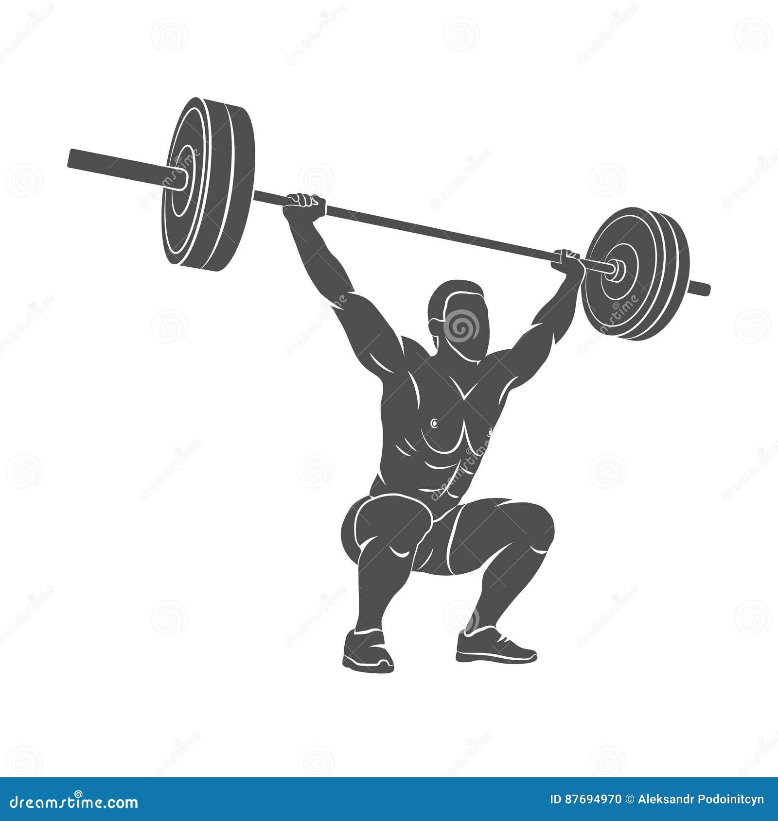 Strong Man Powerlifting Royalty-Free Cartoon