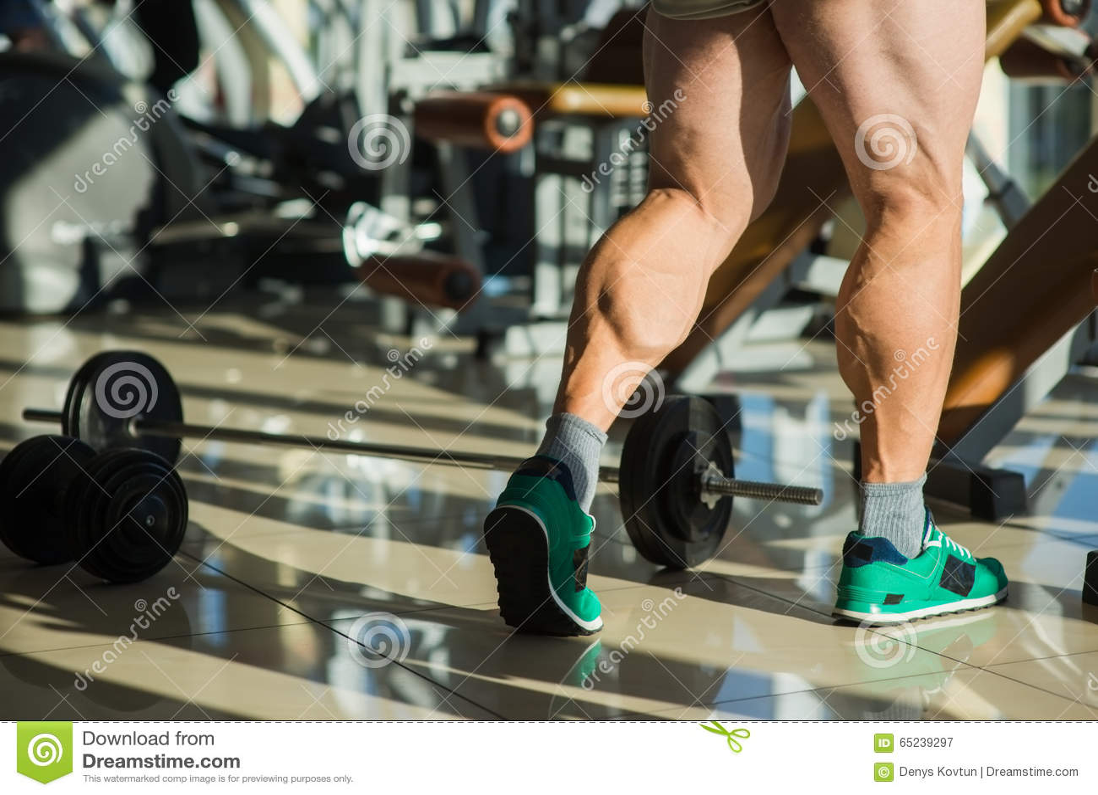 Strong man s legs.