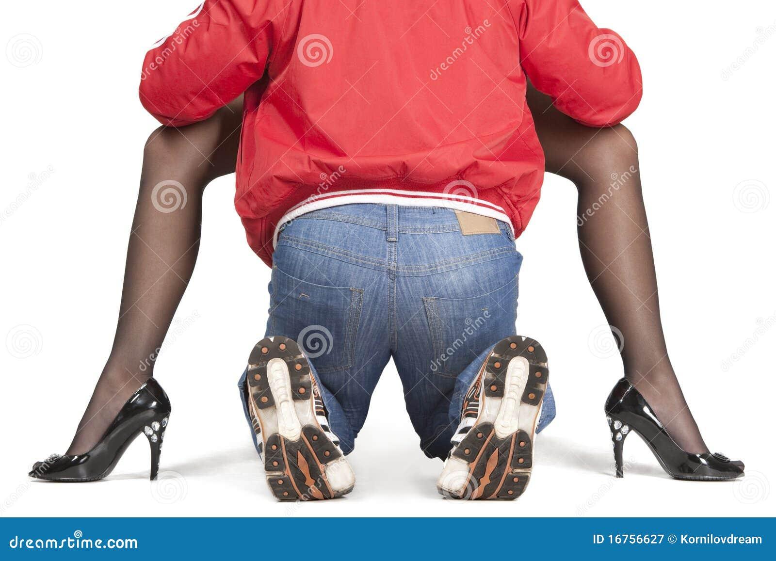 Legs woman between When a