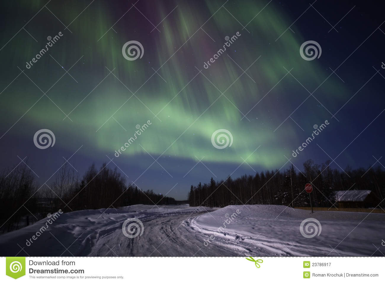 Download Strong Multicolor Display Of Northern Lights Stock Image - Image of exposure, borealis: 23786917