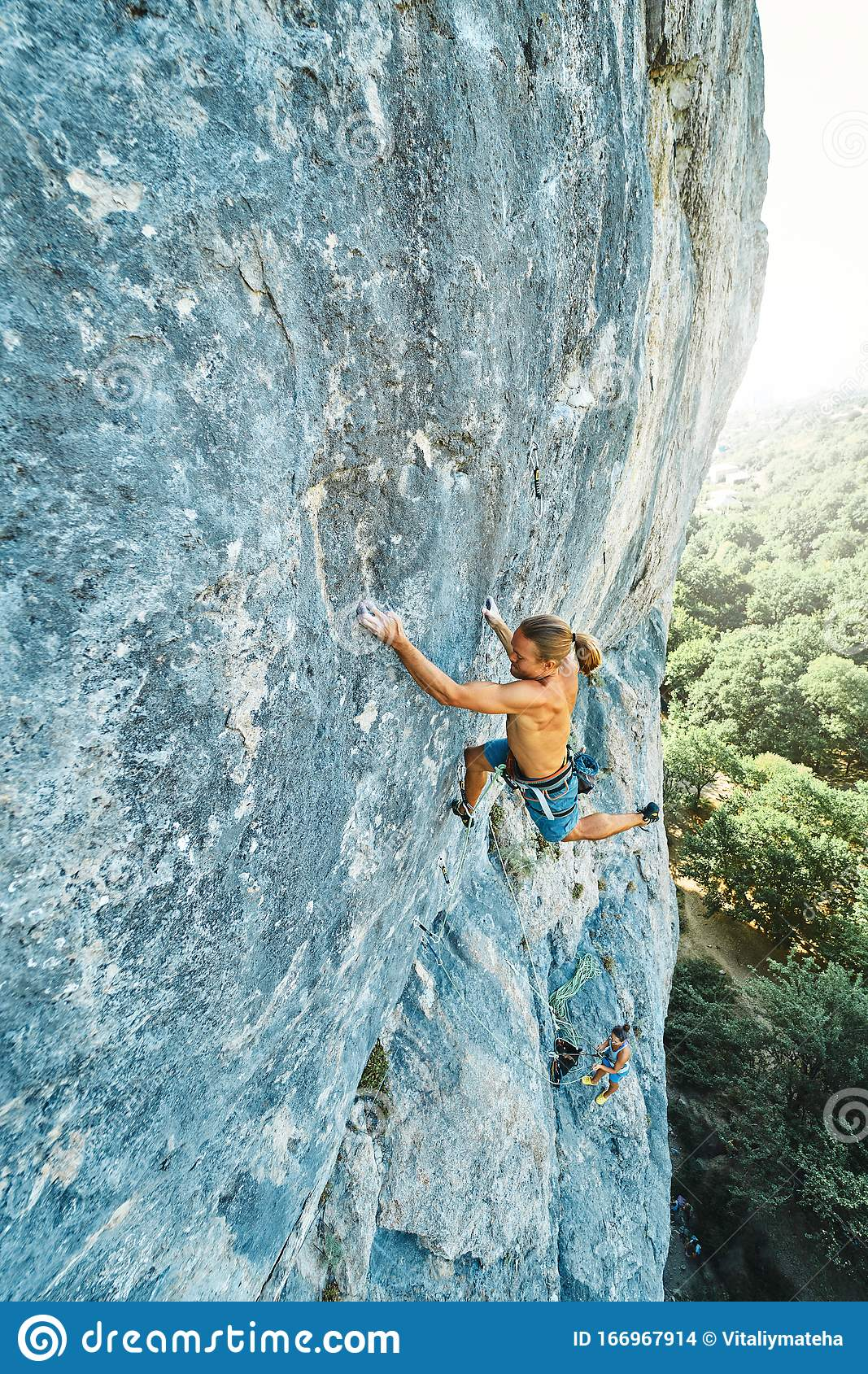 Naked Rock Climbing Stock Photos, Pictures & Royalty-Free