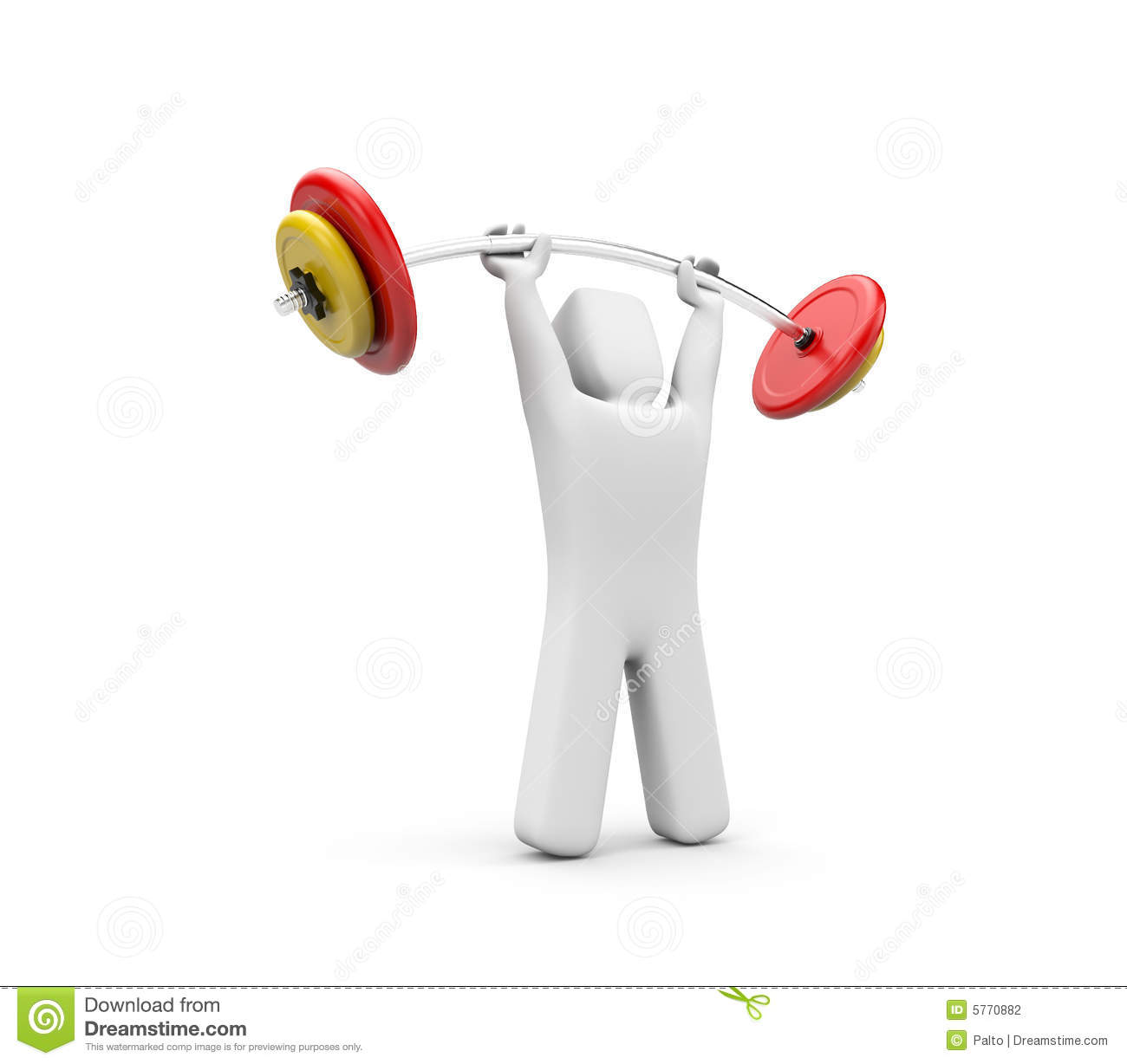 strong person stock photography image 5770882 weight lifting clip art free weightlifting clipart border