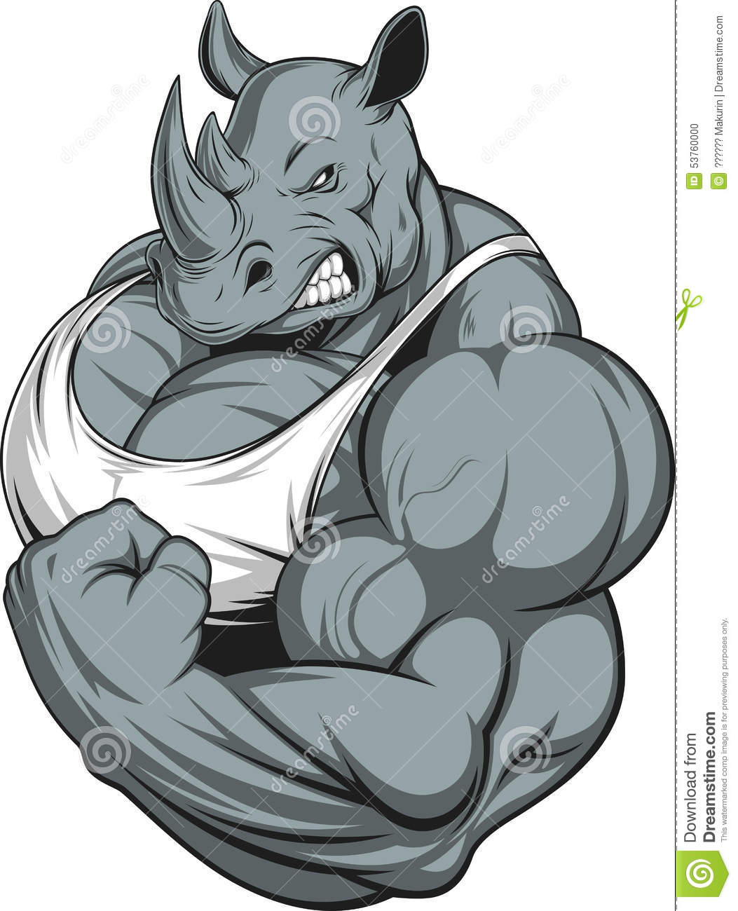strong rhinoceros stock vector image 53760000 rhinoceros clip art outline rhinocéros clipart