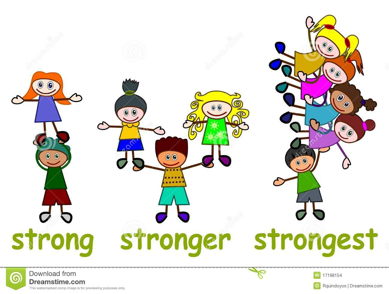 Stock Images: Strong stronger strongest. Image: 17198154