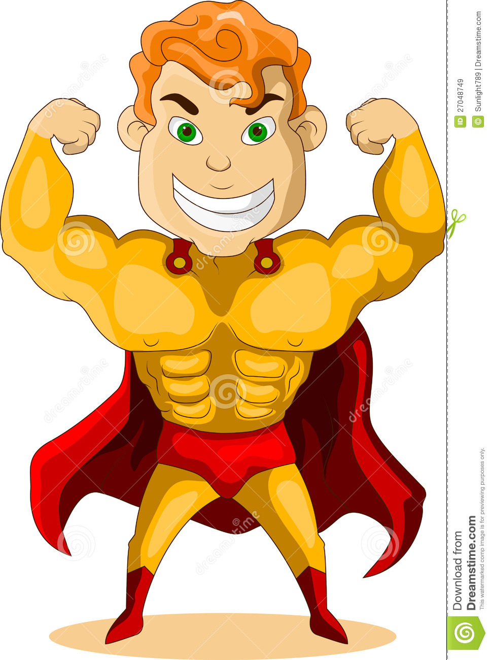 Strong Super Hero Royalty Free Stock Images - Image: 27048749 Superhero Flying Vector