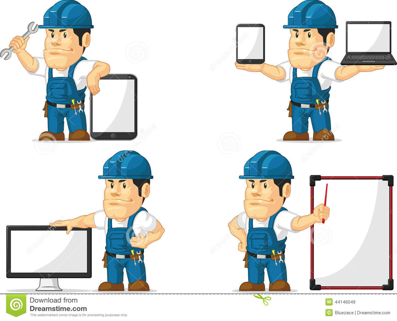 ... vector-set-male-repairman-several-poses-drawn-cartoon-style-vectorIphone 5 Template Vector