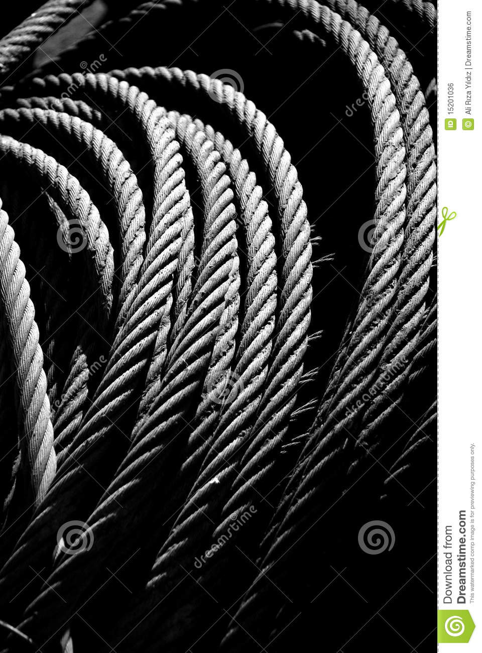 Strong Wire Rope stock photo. Image of material, pile - 15201036