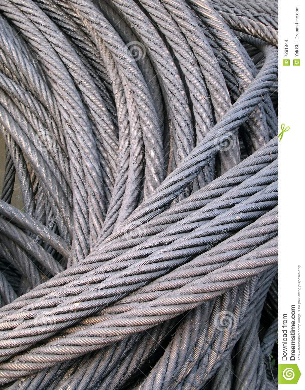 Strong Wire Rope stock photo. Image of pile, heap, steel - 7281844