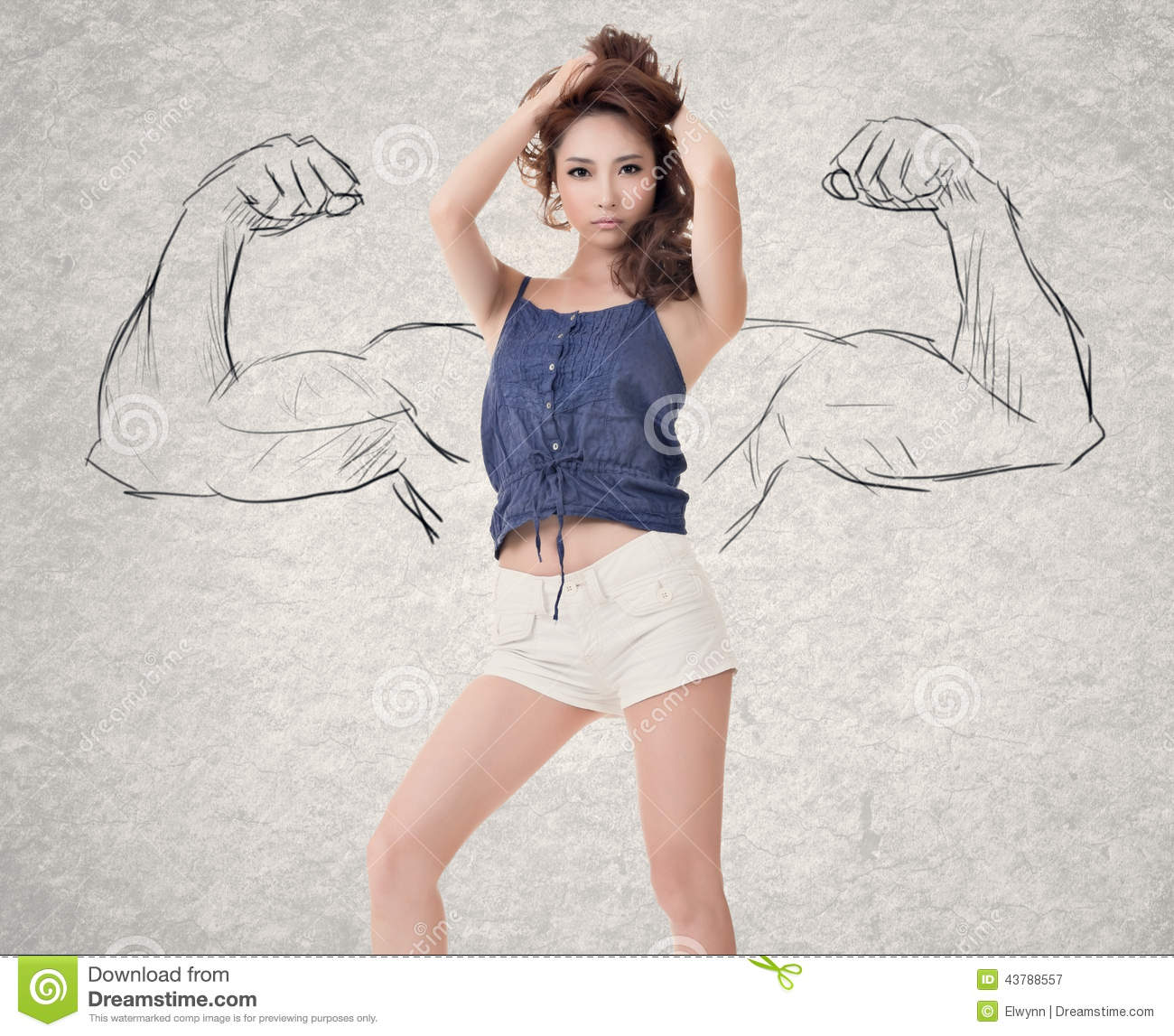 Strong woman stock photo image 43788557
