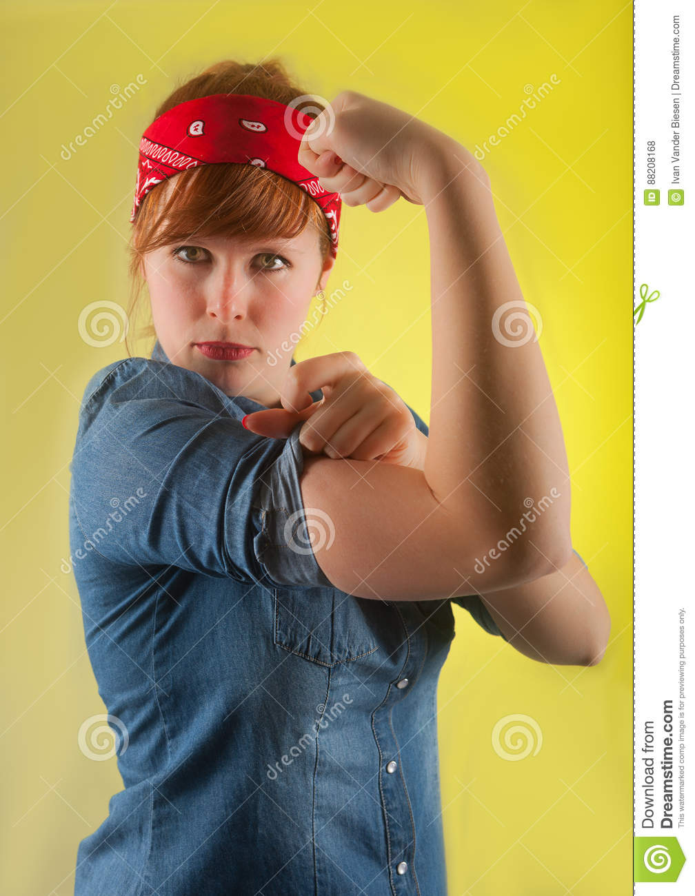 Strong woman after WW2 poster rosie the riveter