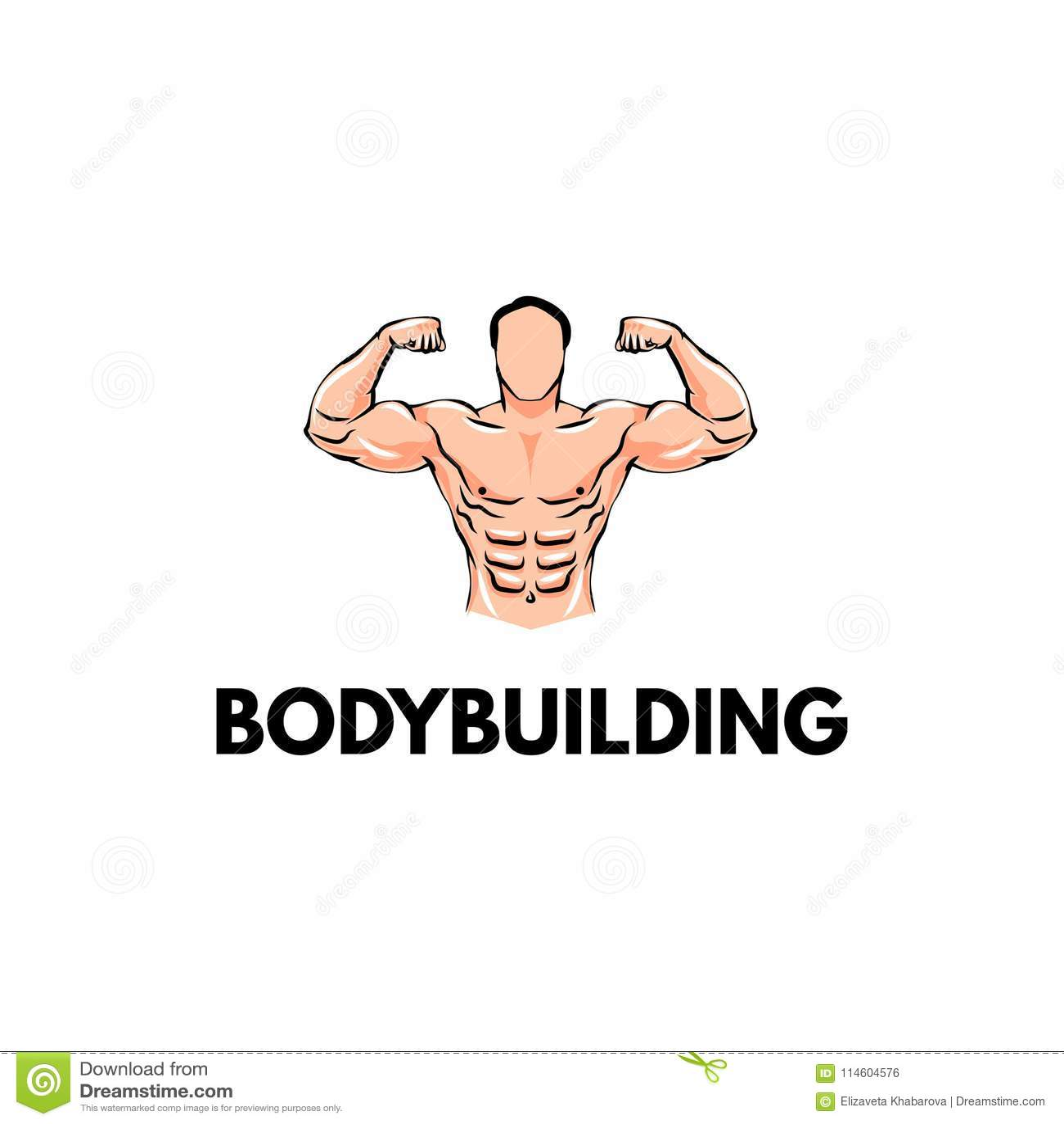 Strongman Bodybuilder sportsman Bodybuildingsembleem, Sportkenteken Vector