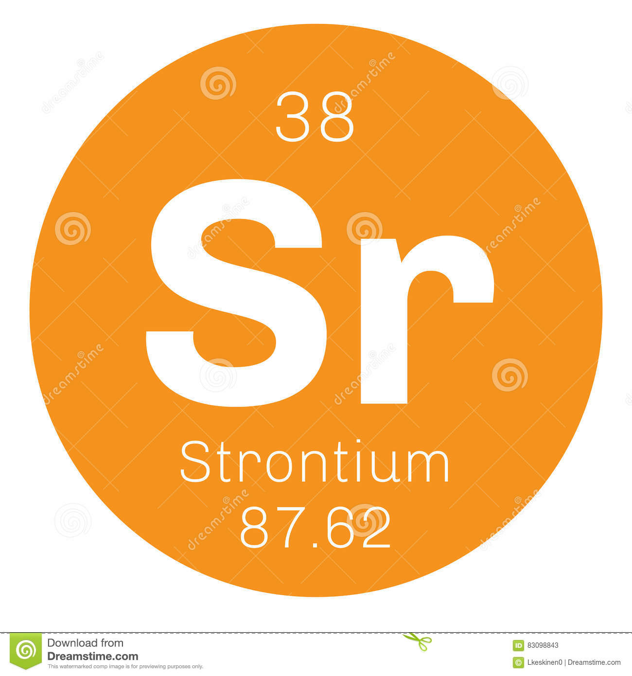 Strontium Chemical Element Stock Vector Illustration Of Number