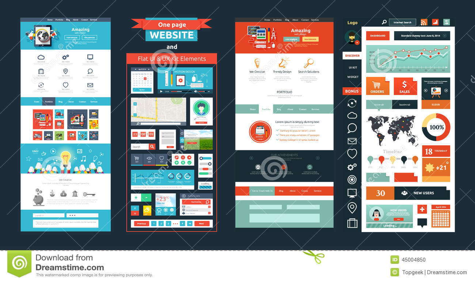 Strony internetowej strony szablon Sieć projekt