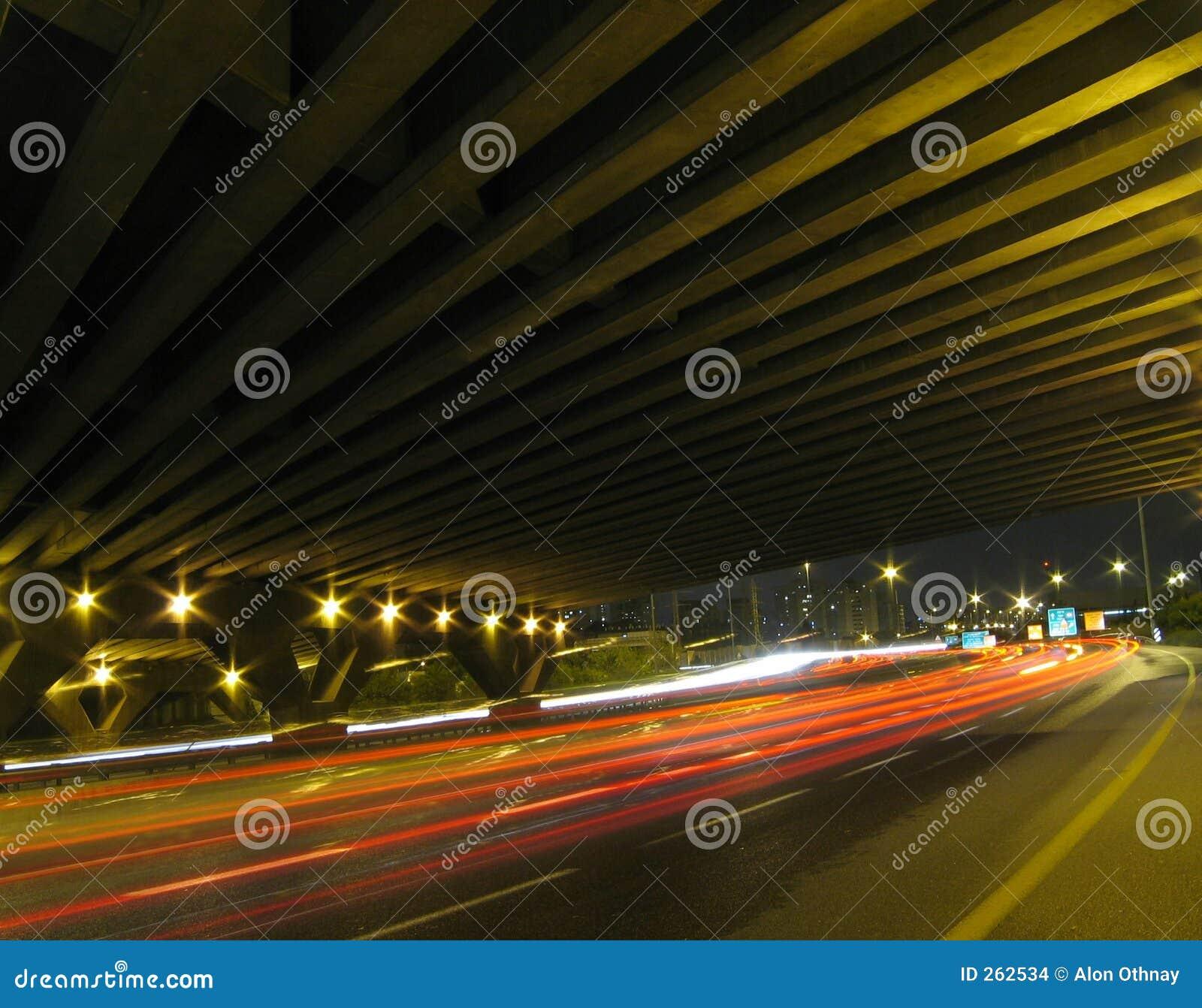 Stroom onder de brug