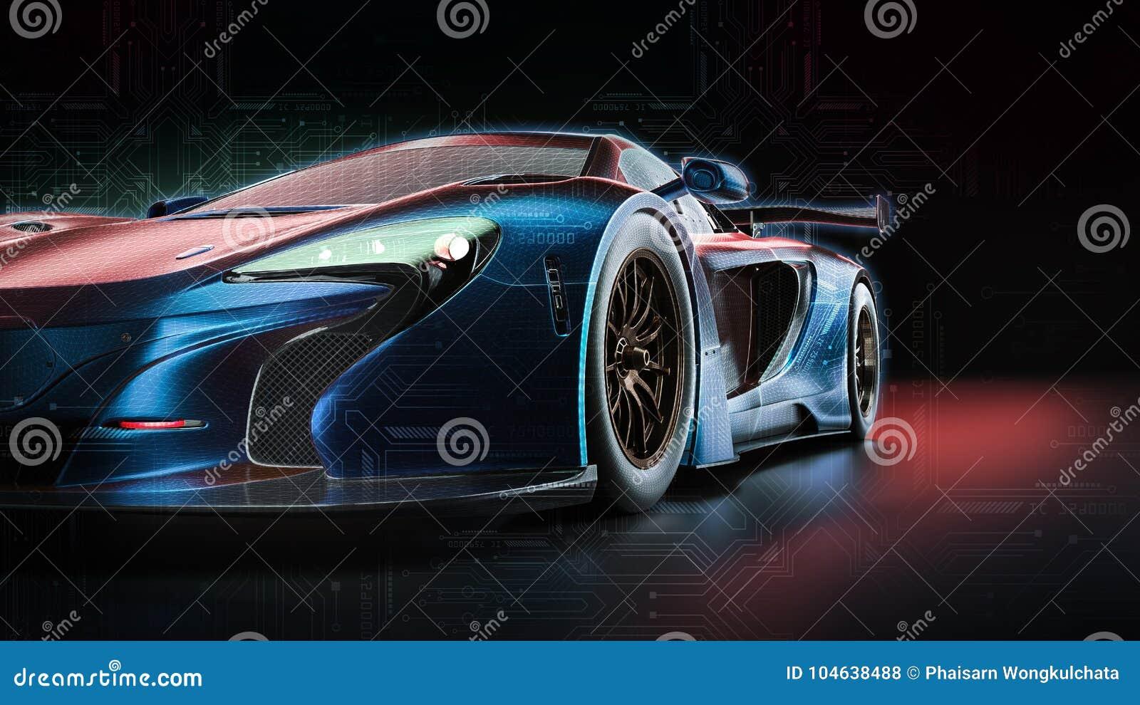 Download Stroomauto stock illustratie. Illustratie bestaande uit auto - 104638488