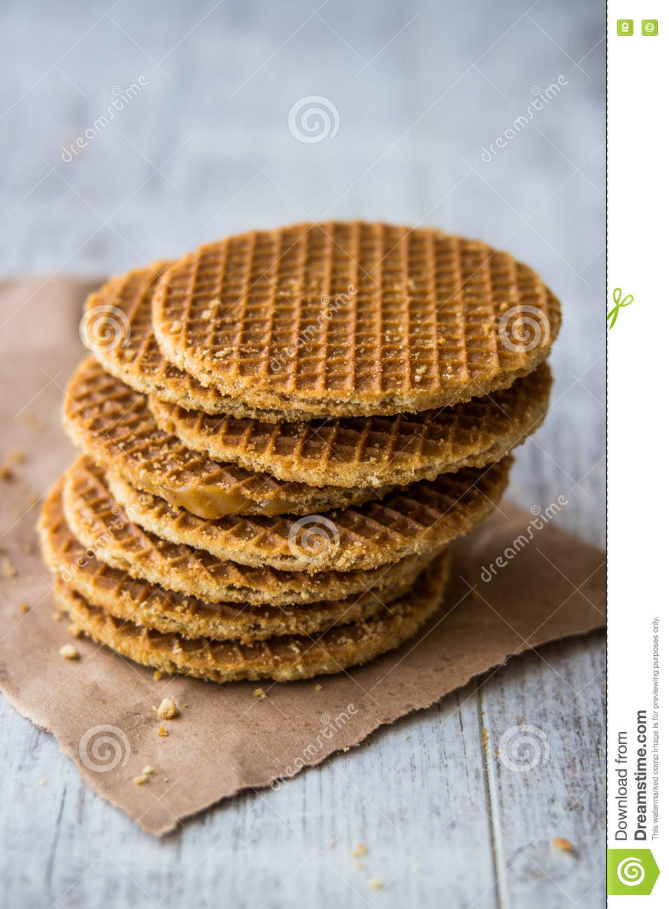 Stroopwafel Is A Waffle Made From Two Thin Layers Of Baked Dough With A Caramel Like Syrup Filling In The Middle