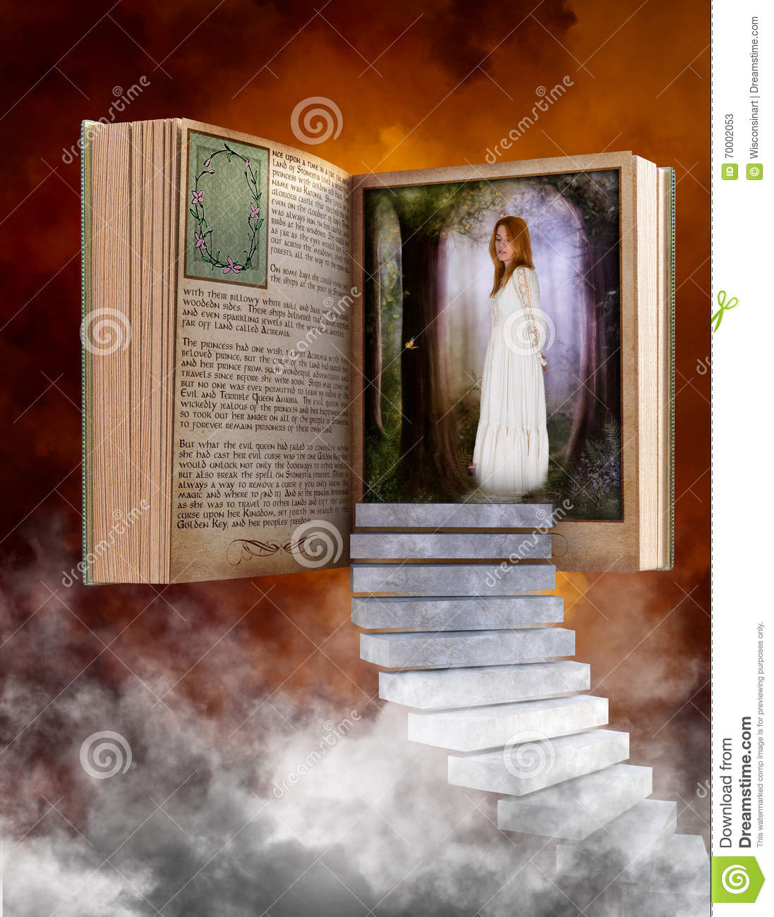 storybook, reading, fantasy, love, imagination stock image - image