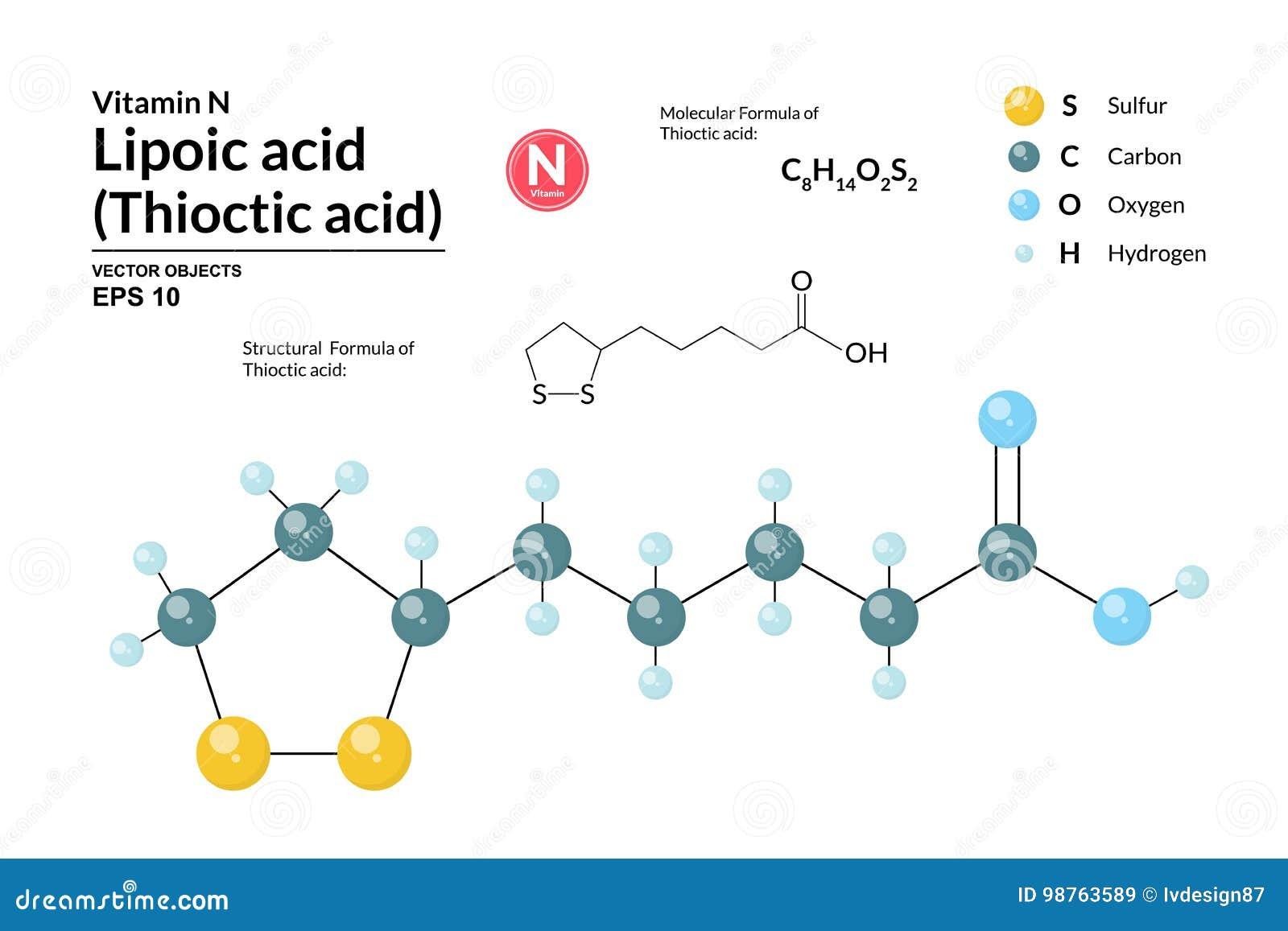 3d Oxygen Atom Diagram Spheres Represent Carbon Atoms Wire Data Structural Chemical Molecular Formula And Model Of Lipoic Acid Rh Dreamstime Com