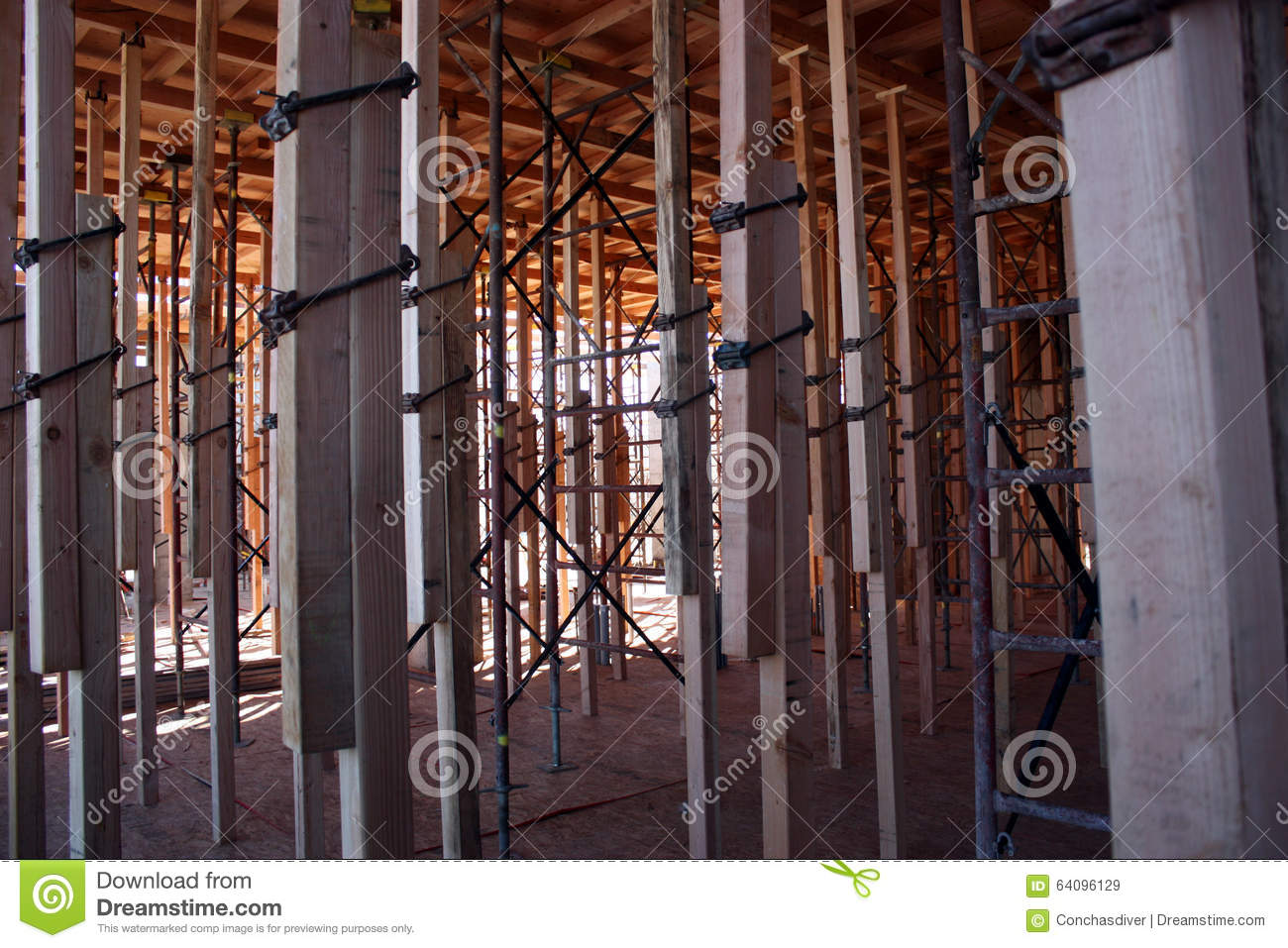 Structural Concrete Systems : Structural concrete deck shoring stock photo image