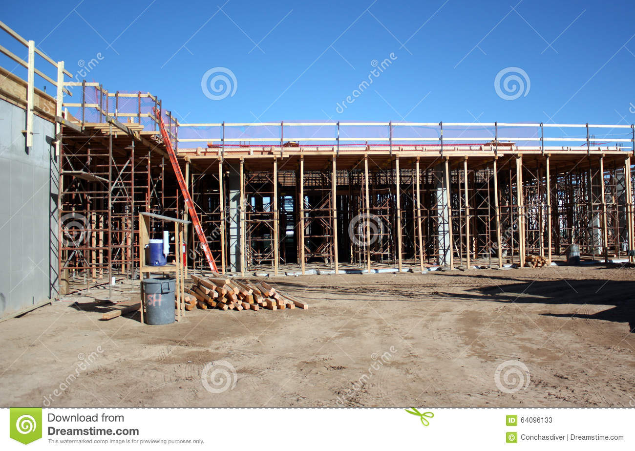 Structural Concrete Systems : Structural concrete shoring system stock image of