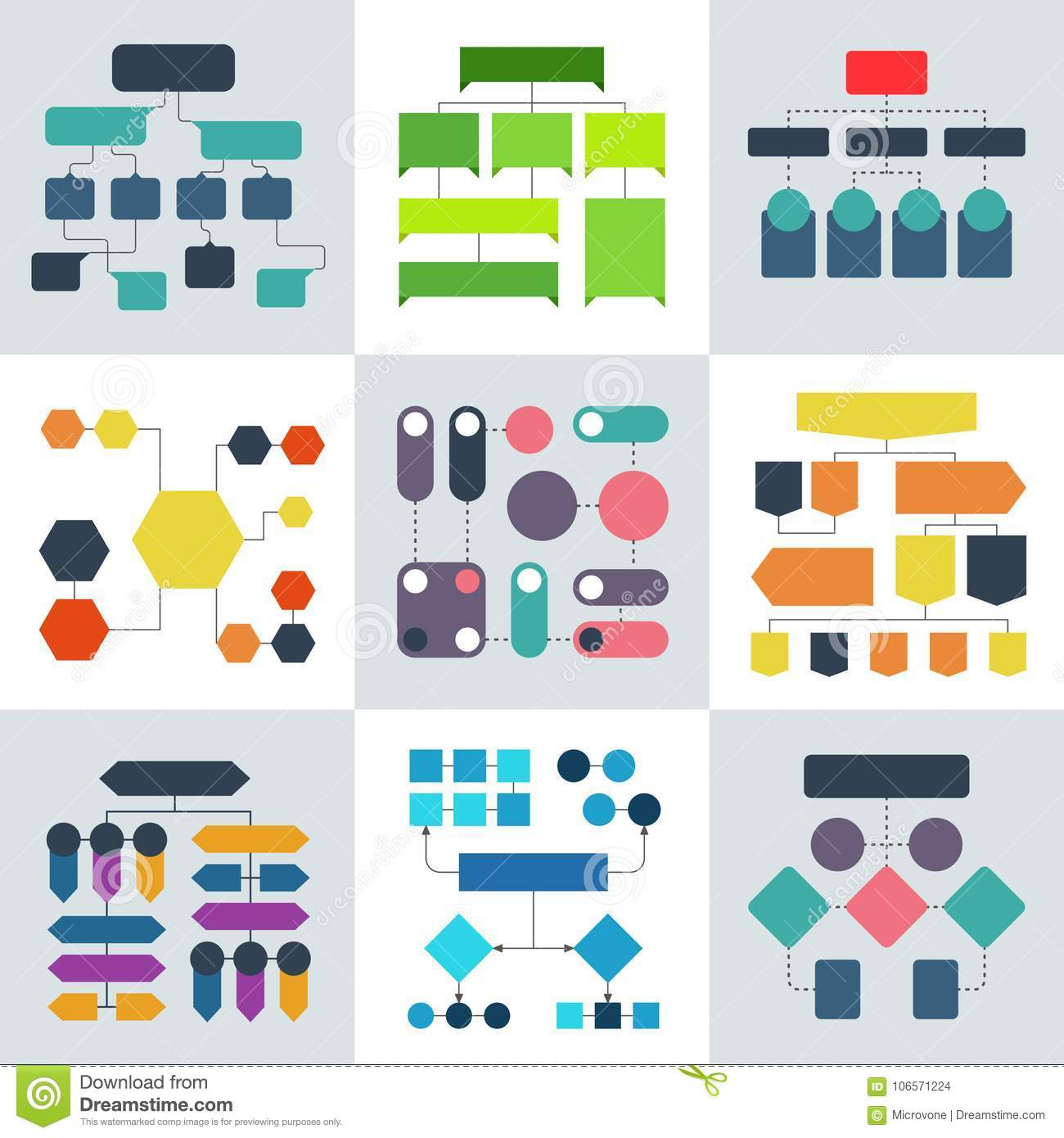 structural flow diagrams, flowcharts and flowing process structures  vector  infographics elements structure process, diagram and flowchart illustration