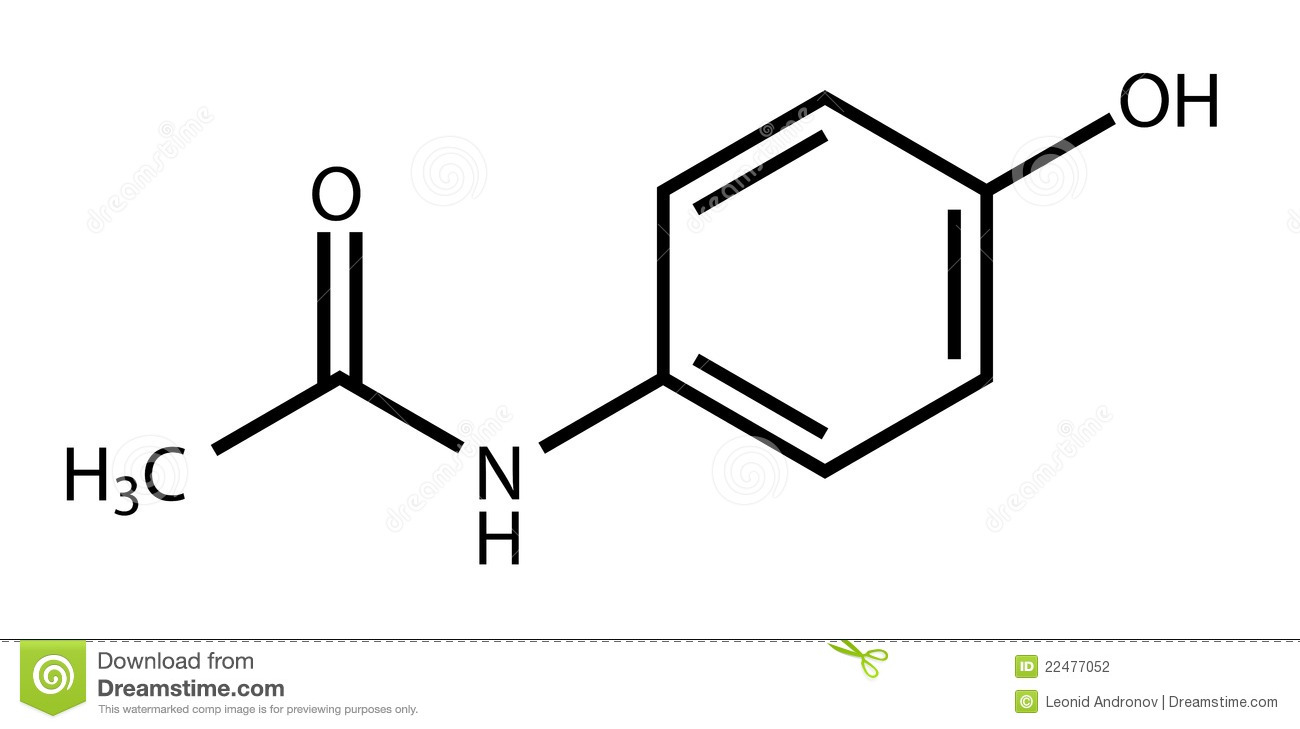 structural formula of paracetamol acetaminophen stock. Black Bedroom Furniture Sets. Home Design Ideas
