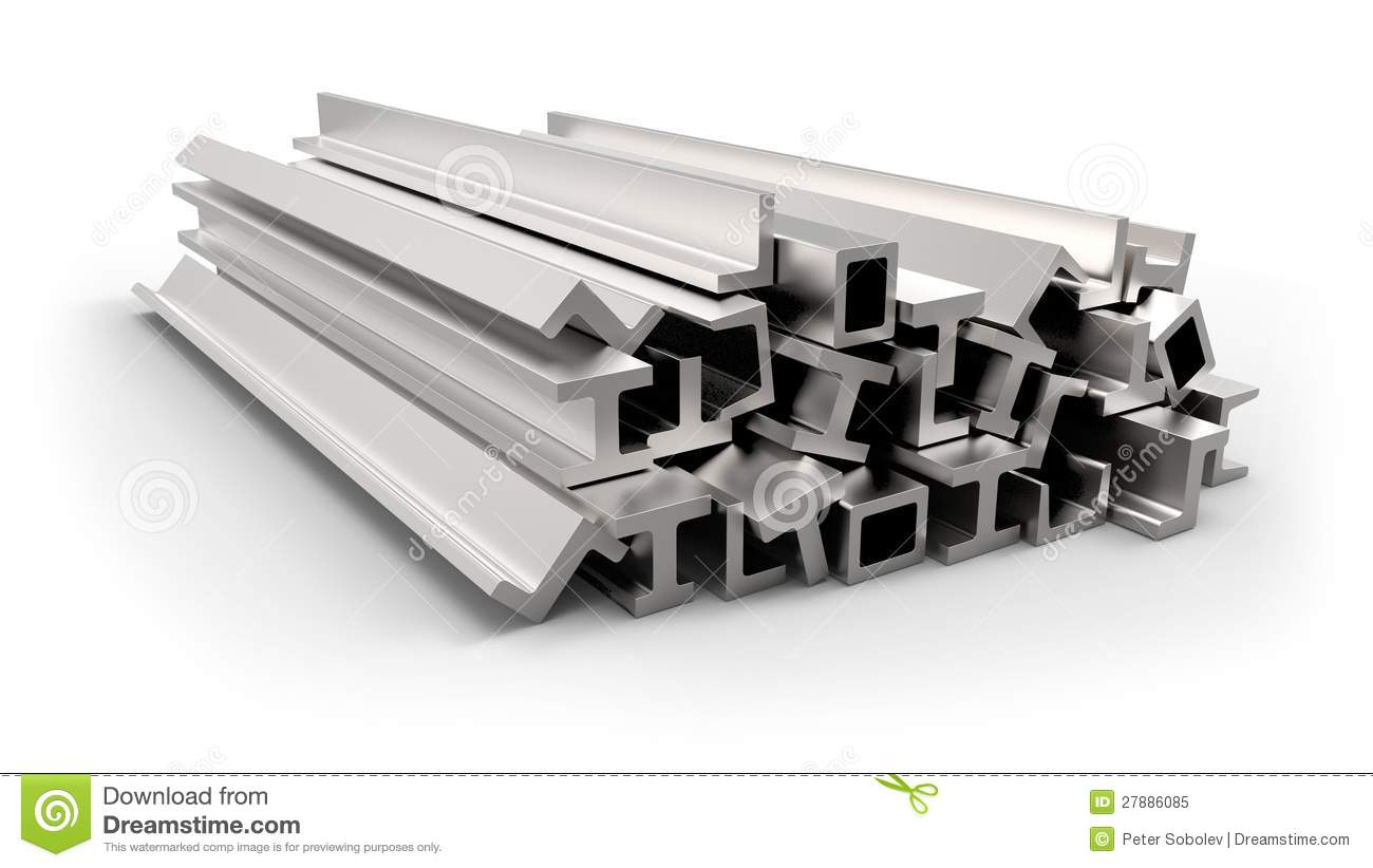 Structural Metal Shapes Royalty Free Stock Photo Image