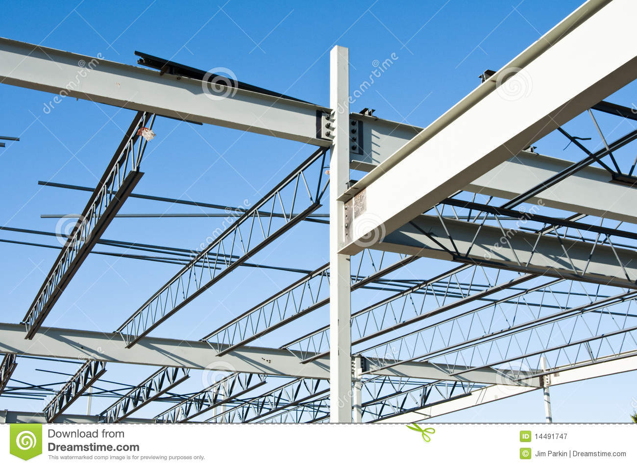 Steel Building Construction : Structural steel construction royalty free stock