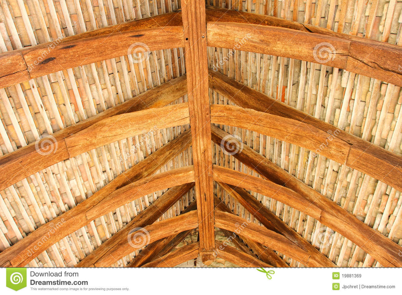 Structural Wood Roof Royalty Free Stock Images Image