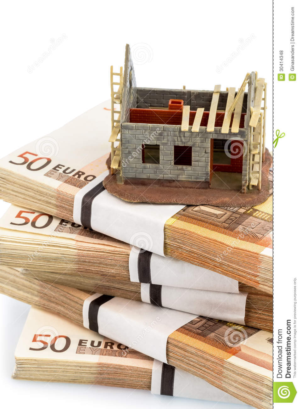 Structural work on euro banknotes royalty free stock for How does financing work when building a home