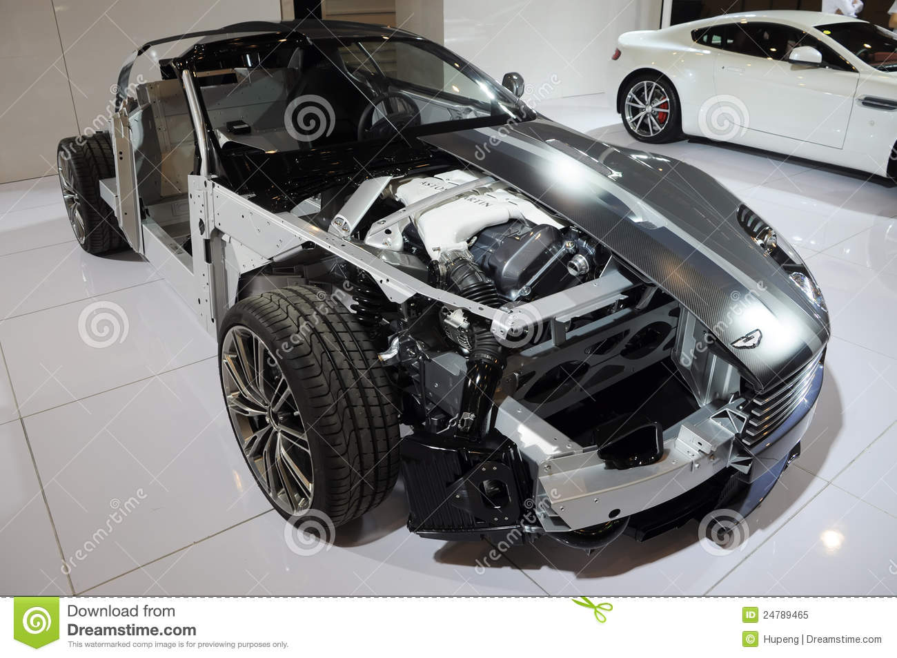 The Structure Of Aston Martin Db9 Editorial Image Image