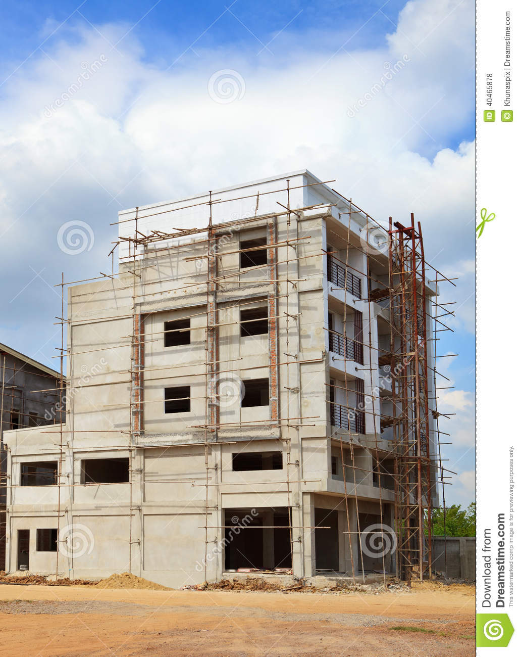 Structure of building construction use for construction for Building an estate