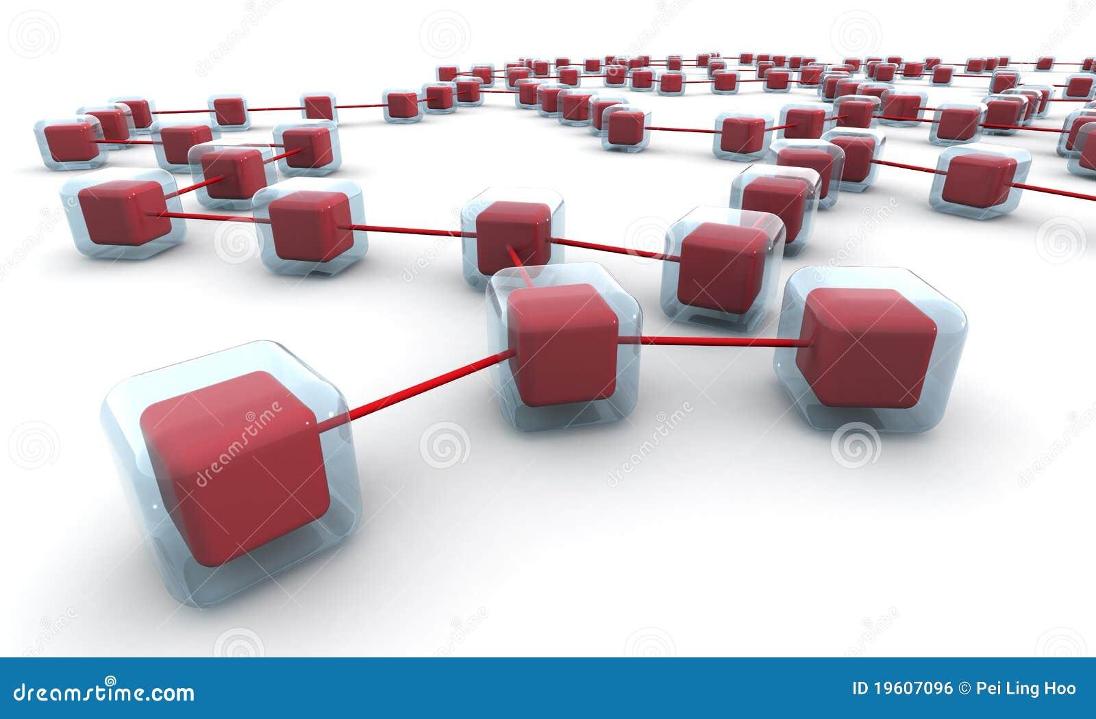 Structure de réseau d affaires ou concept de connexion