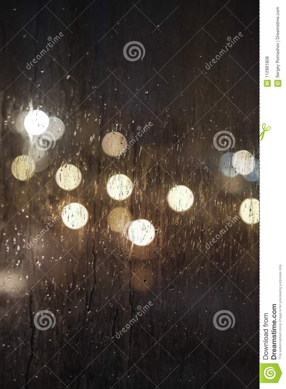 The structure of the dirty glass background