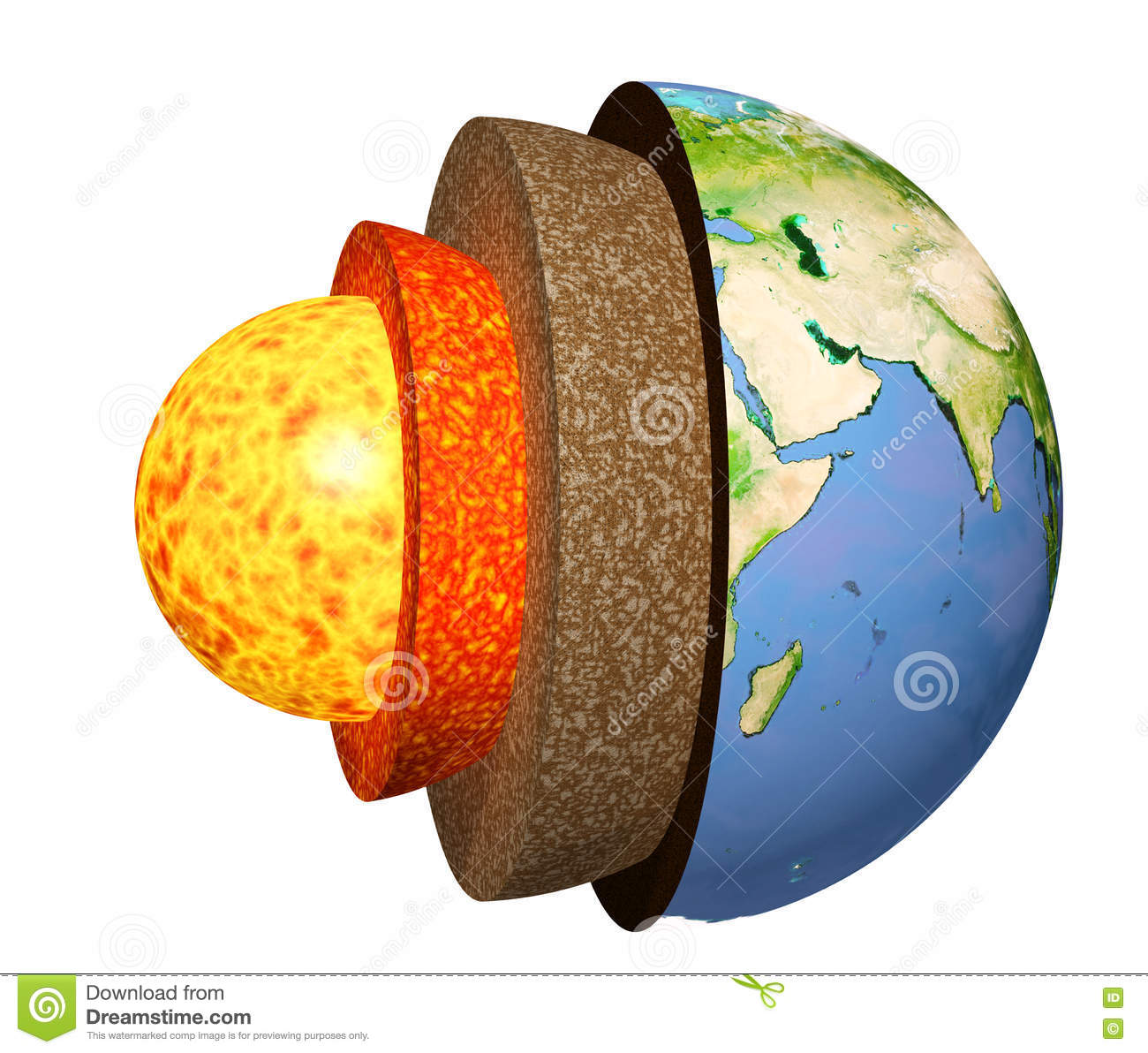 Structure Of The Earth Stock Illustration - Image: 72288652