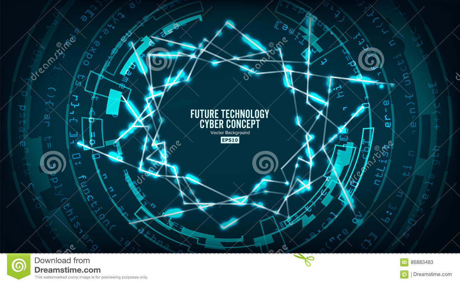 Structure futuriste de connexion de technologie Fond abstrait de vecteur Futur concept de Cyber Salut conception de Digital de vi