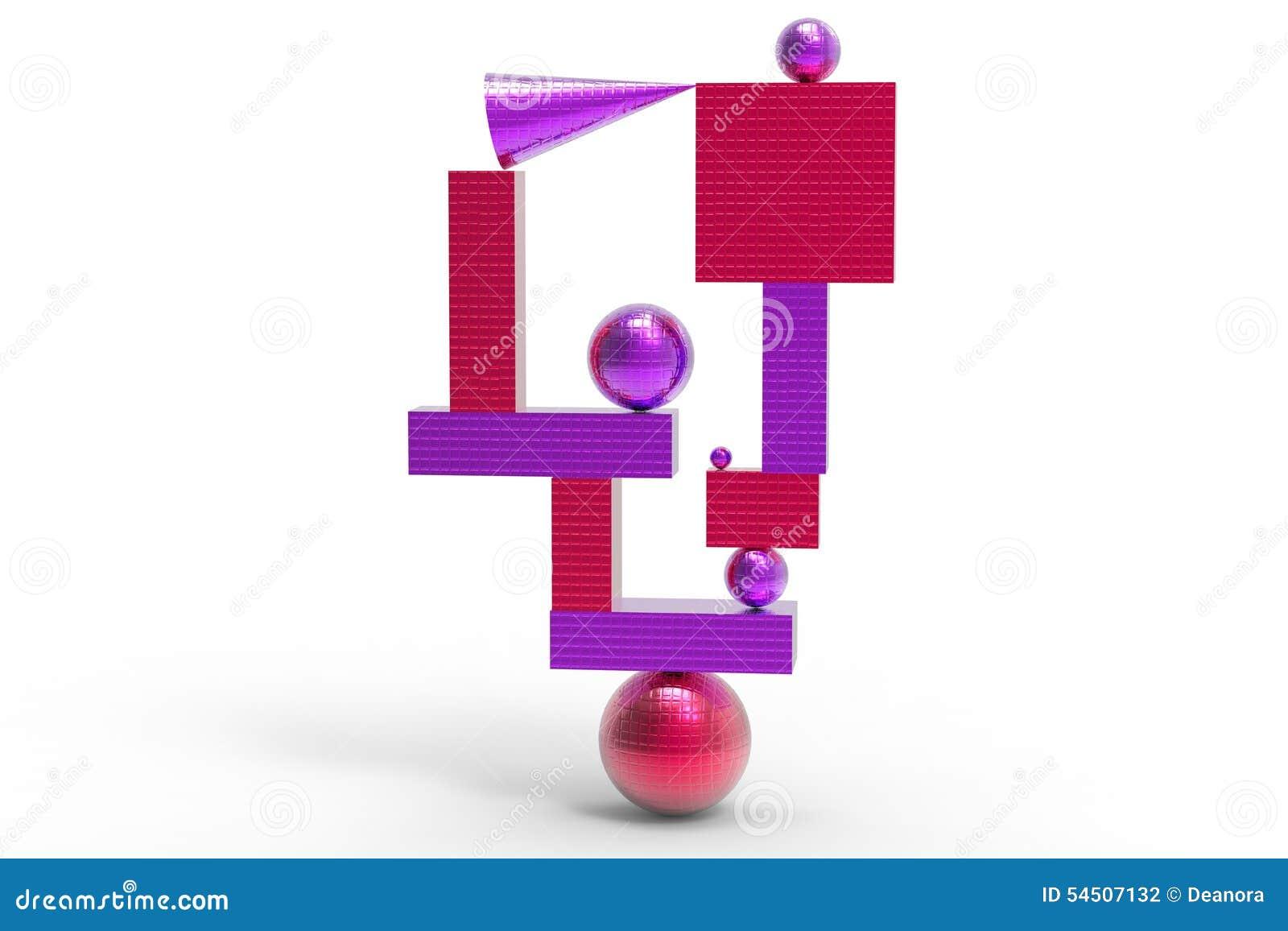 Structure géométrique abstraite en couleurs