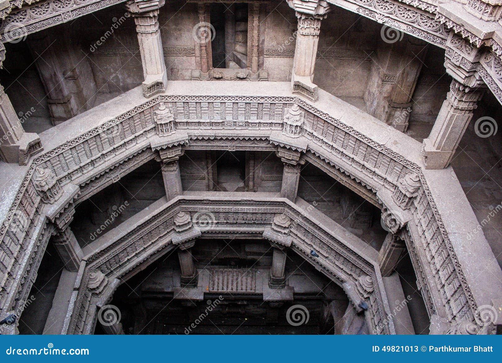 Structure historique de puits d étape d Adalaj
