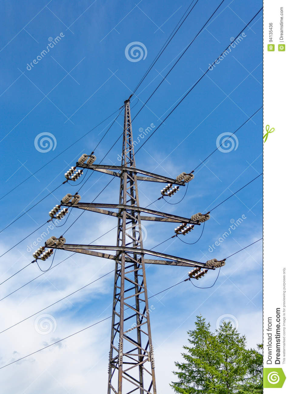 Structure For Holding Wires - Ground Wire Overhead Power Lines Stock ...