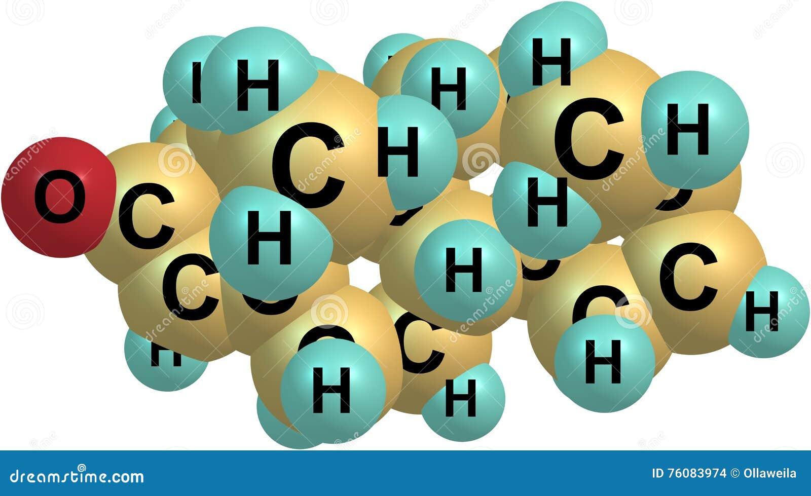 Structure moléculaire d Androstadienone d isolement sur le blanc