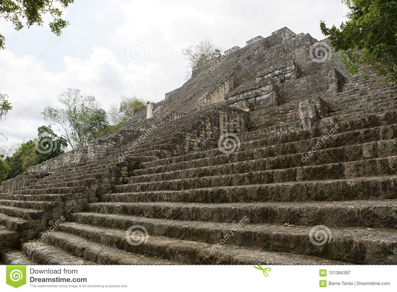 Structure number one at Calakmul Mexico
