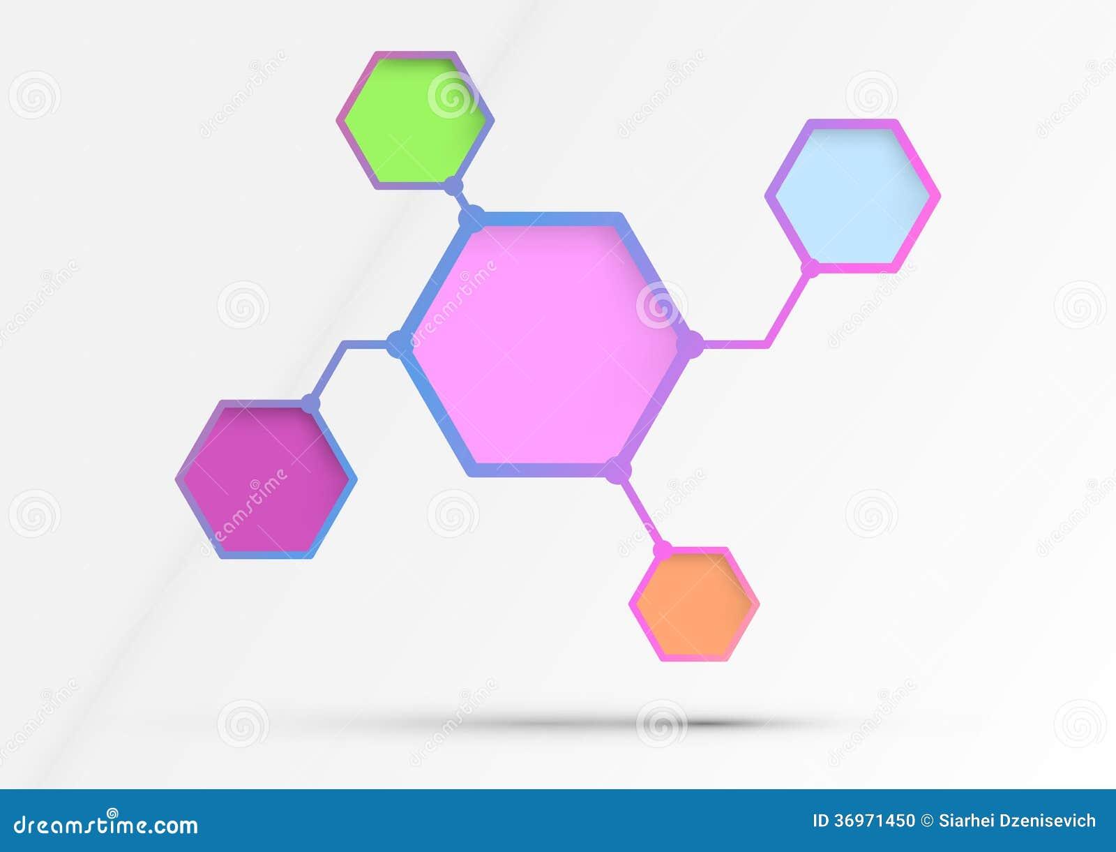 structured diagram   information in hexagons   alg stock photo    structured diagram   information in hexagons   alg